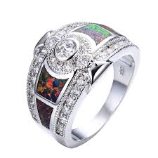 wedding rings opal images Cheap opal engagement rings find opal engagement rings deals on jpg