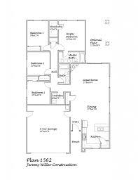 floor plans 4 bedroom 3 bath jeremy willer construction