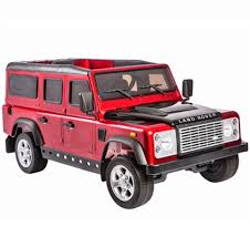 red land rover land rover defender 12v licensed electric ride on jeep red