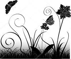 butterflies flowers and grass u2014 stock vector dr pas 1740105