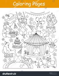 coloring pages circus animals stock vector 561501142 shutterstock