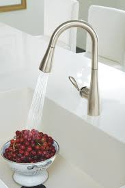 arbor kitchen faucet moen 5995csl arbor one handle high arc pulldown bar faucet featuring