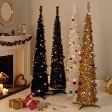 christmas tree lights amazon uk pop up christmas tree with lights a 7 ft lighted and decorations