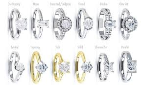 different types of wedding rings types of diamond ring settings wedding promise diamond