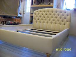 Tufted Headboard Footboard Hand Crafted Queen Size Tufted Upholstered Headboard Footboard