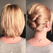 short hair can go up here is an updo technique i demonstrated in