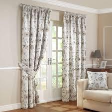 carmen natural luxury jacquard lined pencil pleat curtains pair