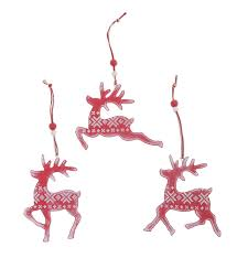 reindeer decoration with fair isle pattern