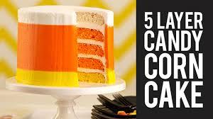 how to make halloween candy corn cake youtube