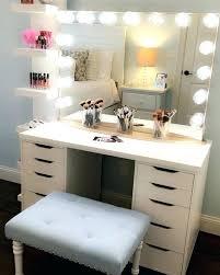 ikea makeup vanity vanity set with lights dotboston co