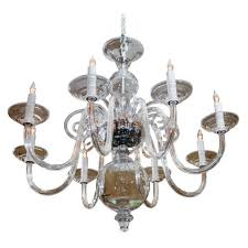 Antique Glass Chandelier 8 Arm Murano Style Hand Blown Glass Chandelier For Sale Antiques
