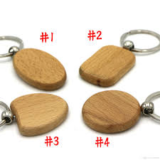 wooden keychain beautiful blank wooden diy keyring keychain key chain ring carving
