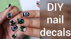 how to make nail decals diy youtube