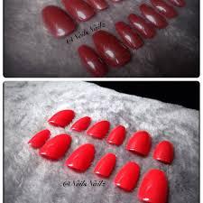 mood changing press on nails red false nailsburgundy fake