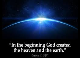 what day did god create light let there be light god not random forces created our universe