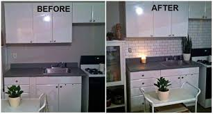 how to paint tile backsplash in kitchen affordable painted backsplash home painting ideas