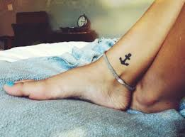 30 great looking anchor tattoos for ankle
