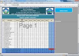 format absensi ujian aplikasi jadwal ujian sekolah format microsoft excel berkas edukasi