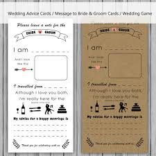 advice cards for the wedding advice card message to and groom cards note to