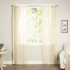 ink ivy nakita single semi sheer curtain panel u0026 reviews wayfair
