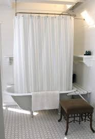Clawfoot Tub Shower Curtain Ideas Pleasurable Inspiration Shower Curtain Clawfoot Tub Shelf Built