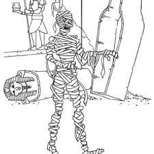 scary mummy free coloring scary mummy free