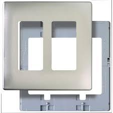 legrand pass u0026 seymour screwless 2 gang 2 decorator wall plate