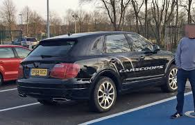 bentley jeep we caught thinly disguised bentley bentayga suv at a parking lot