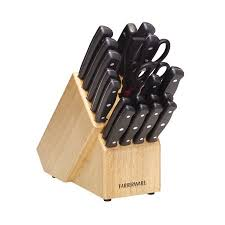 farberware kitchen knives farberware 21 riveted knife set walmart