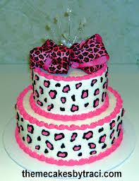girls birthday cakes cheetah leopard print design that i love