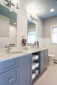 open bathroom vanity bathroom transitional with modern subway