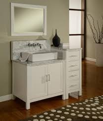 Horizon Double Vanity Sink Console With Pearl White Finish - Carrera marble bathroom vanity