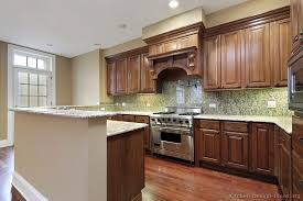 Traditional Medium WoodBrown Kitchen Cabinets  KitchenDesign - Medium brown kitchen cabinets