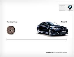 tagline of bmw print advert by wheel ads of the