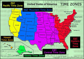 Map Of Time Zones In Us by Time Zones