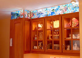 kitchen cabinet faux stained glass and led lighting youtube