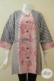 desain baju batik halus pakaian batik halus desain dual motif blus batik modern ukuran