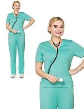 Surgeon Halloween Costume Scrubs Fancy Dress Ebay
