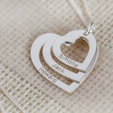 custom necklace pendants the name necklace personalised silver by christopherjamesuk
