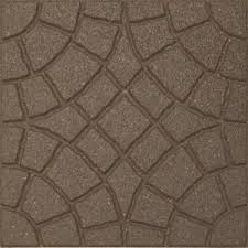 Recycled Rubber Patio Tiles by Envirotile Bella Rocca 18 In X 18 In Earth Paver 70 Pack