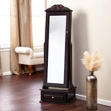 mirror jewelry armoires decorating design mirrored jewelry armoire for decoration
