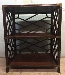 vintage henredon asian style bookcase etagere stand mid century