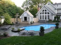 Luxury Backyard Designs Astounding Backyard Landscaping Ideas With Large Blue Swimming