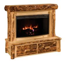Amish Electric Fireplace Rustic Log Fireplace With Mantel