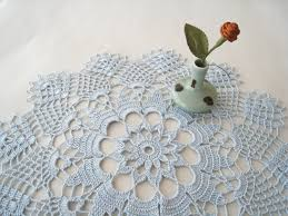 lace doily crochet doily cornflower blue wedding decoration