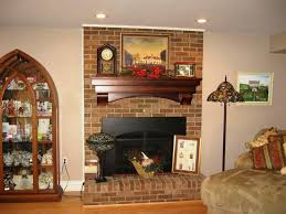 Beautiful Fireplaces by Rustic Brick Fireplace Mantel All Home Decorations
