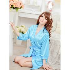 womens lingerie lace dressing gown satin robe chemise nighties g