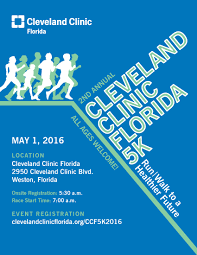 Weston Florida Map by Cleveland Clinic Florida 5k Run Walk To A Healthier Future 2016