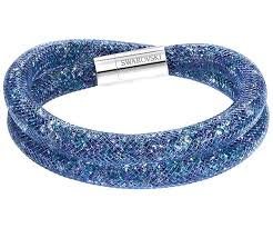 blue bracelet images Stardust blue double bracelet outlet swarovski online shop jpg