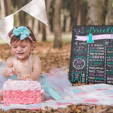 ddg chalkboard first birthday posters custom invitations